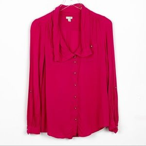Odille Anthropologie Pink Blouse